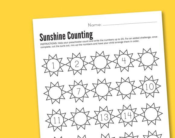 It's A Sunshiny Worksheet Wednesday!