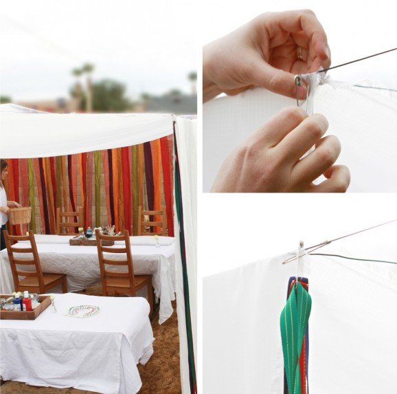 How to make a Faux White Tent in the Backyard for your Party