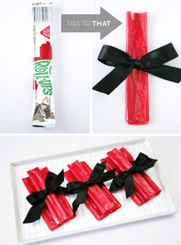 Fruit Roll-Up Diplomas for Pre-School Kindergarten Graduation Treat