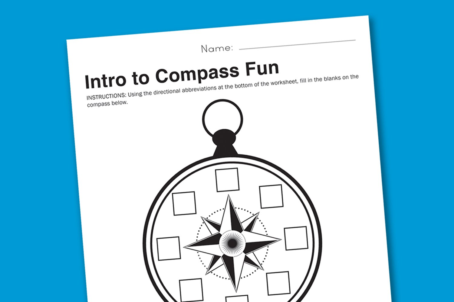 Worksheet Wednesday Intro to Compasses Paging Supermom – Compass Rose Worksheets