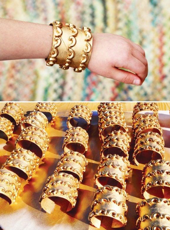 Elegant Egyptian Costume Jewelry Cuff Bracelets