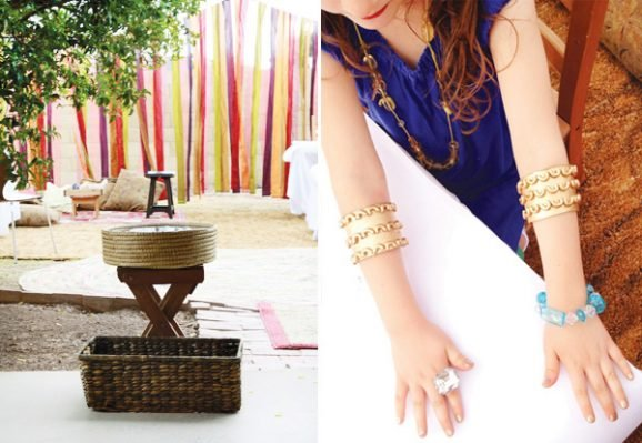 Egyptian Costume Jewelry and Moroccan Spa Theme Birthday Party