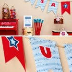 Free Printable USA Banner Patriotic July 4th