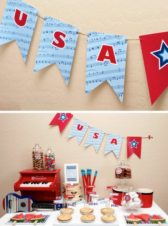 July 4th Printable Garland