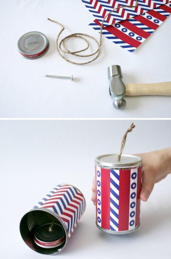 Firecracker Noisemaker Craft for Fourth of July