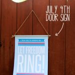 Free July 4th Door Sign Patriotic Decor