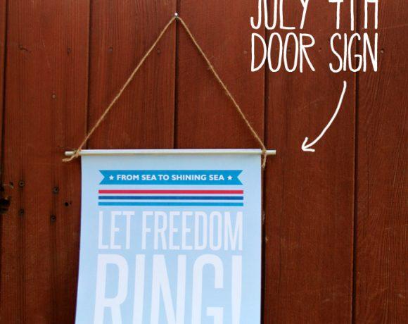 Let Freedom Ring Door Sign