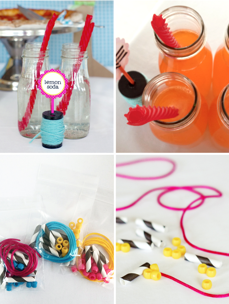 Lalaloopsy Party Supplies Straws Necklaces #lalaloopsy