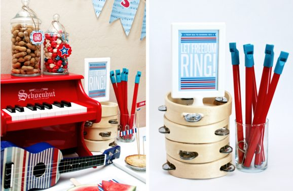 Let Freedom Ring Free Printable Party Pack July Fourth Patriotic USA