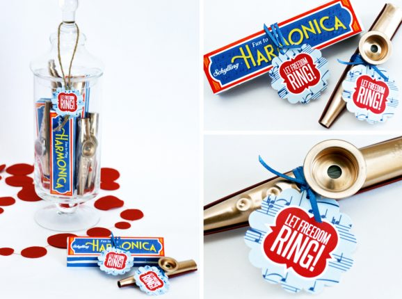 Harmonica and Kazoos Patriotic Party Favors July 4th