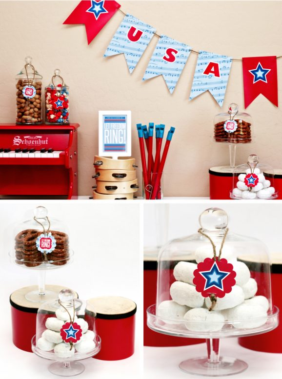 Decorating for Fourth of July Party Freebies