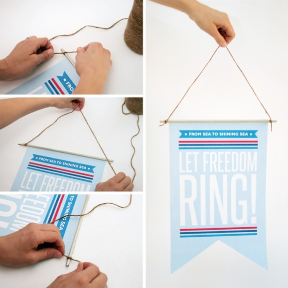How to Make a July 4th Patriotic Door Sign Decor