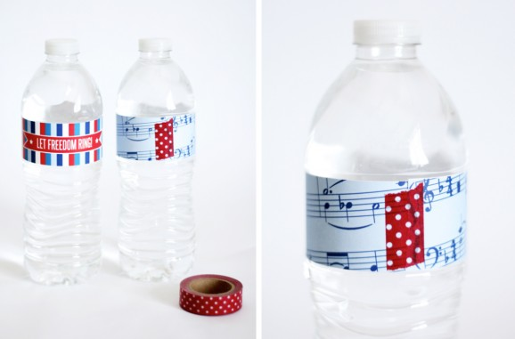 Free Patriotic Water Bottle Wraps