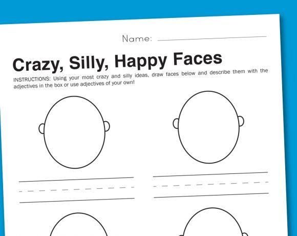 Worksheet Wednesday: Silly Faces Feelings Worksheet