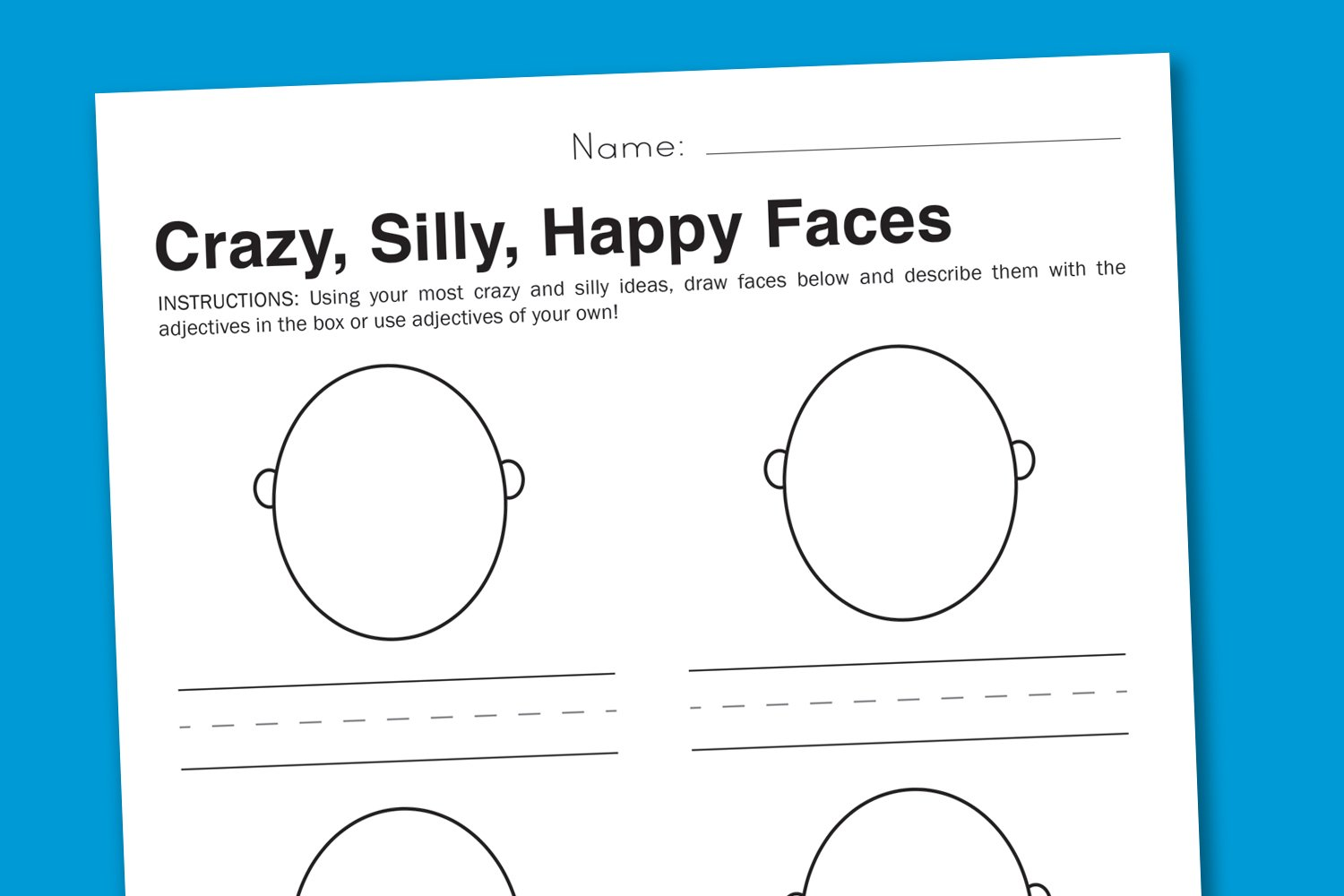 graphic relating to Emotion Faces Printable called Inner thoughts Worksheet - Foolish Faces in the direction of Categorical Feelings