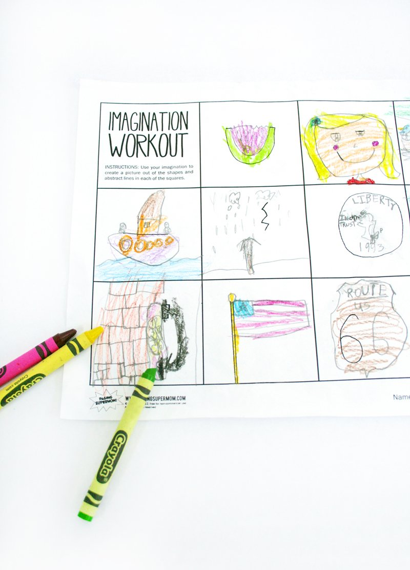 Worksheet Wednesday: Imagination Workout - Paging Supermom