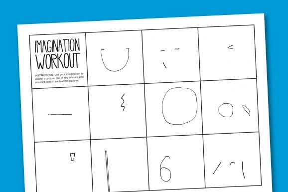 Worksheet Wednesday Imagination Workout Paging Supermom. Imagination Workout Free Printable Art Worksheet. Worksheet. Workout Worksheet At Mspartners.co