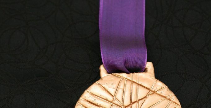 DIY Olympic Gold Medal Craft for kids during the 2012 London Summer Games