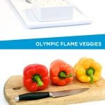 Olympic Flame Veggie Tray