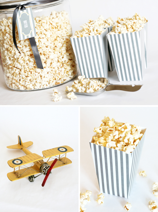 Free printable popcorn box template car interior design for Popcorn container template