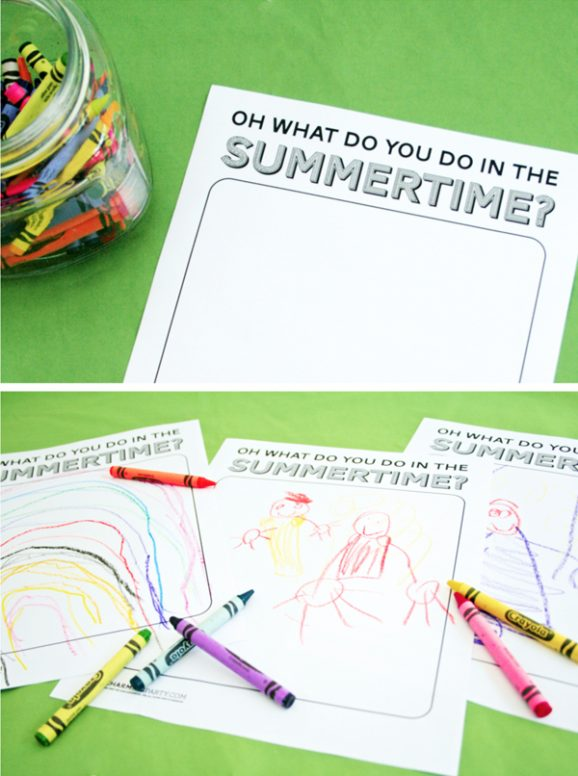 What do you Do in the Summertime Coloring Page