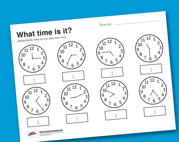 Worksheet Wednesday: What Time Is It?