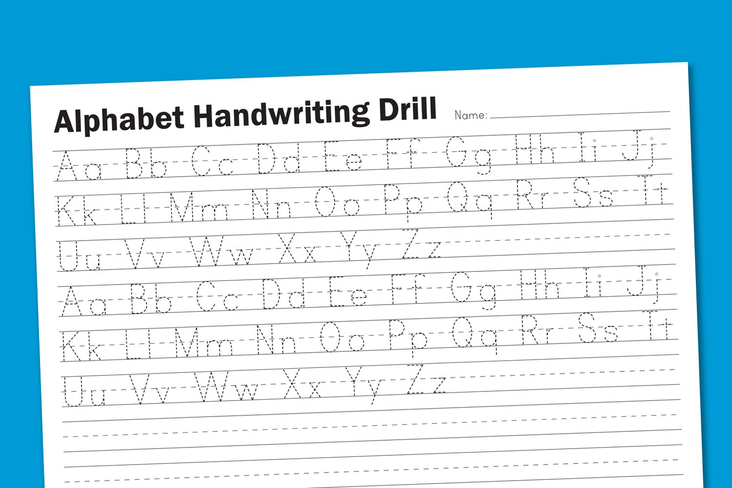 Worksheets Handwriting Worksheets Free Printable alphabet handwriting drill paging supermom