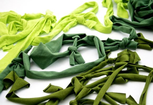 Pretty Party Garlands from Recycled Tees