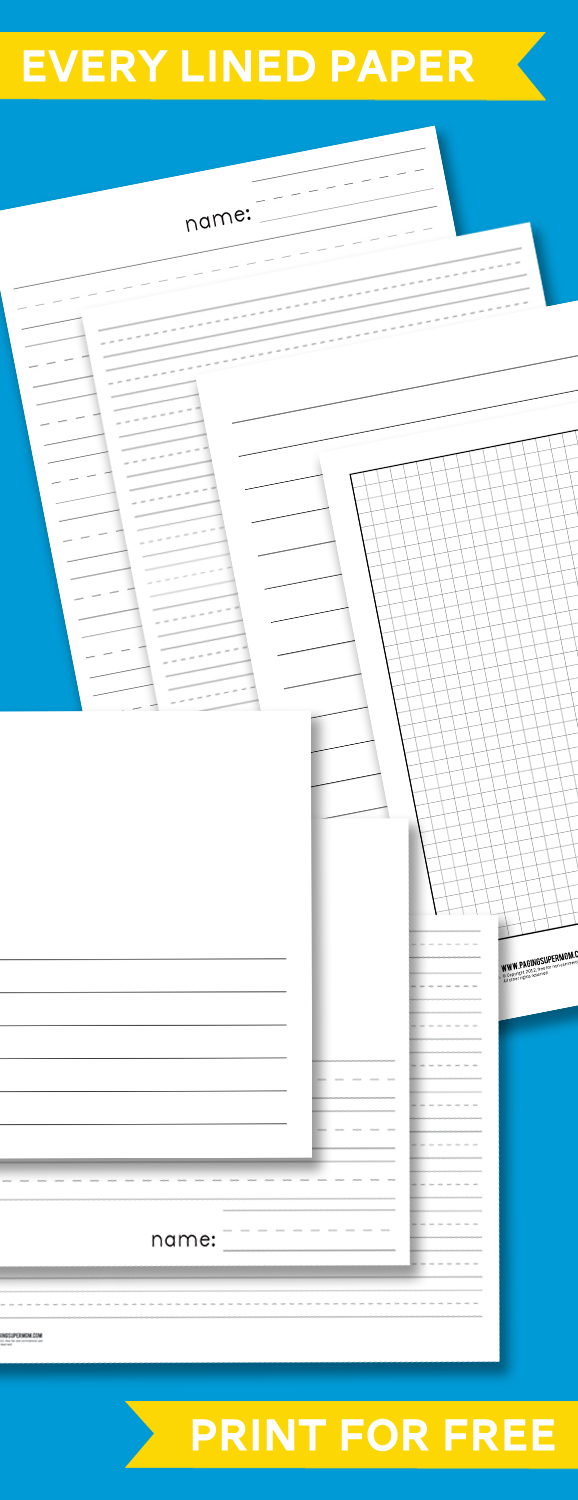 play school papers to print This post may contain affiliate links sometimes you run out of paper and don't have time to run to the store and get more with these free printable lined papers for school from paging supermom it's not a problem anymore.