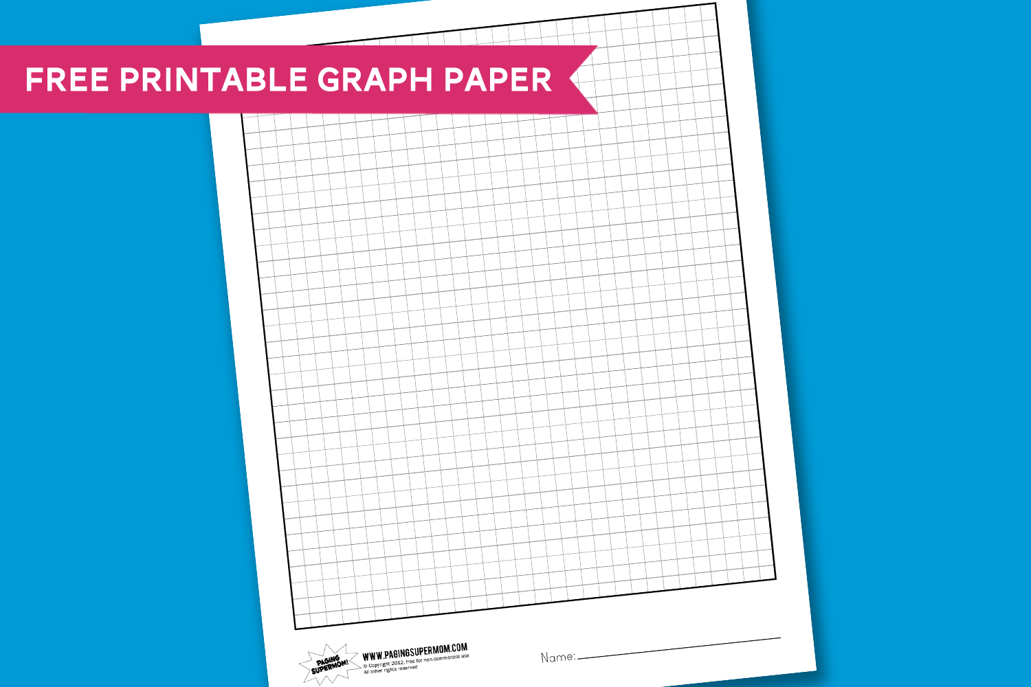 Worksheet Wednesday: Graph Paper - Paging Supermom