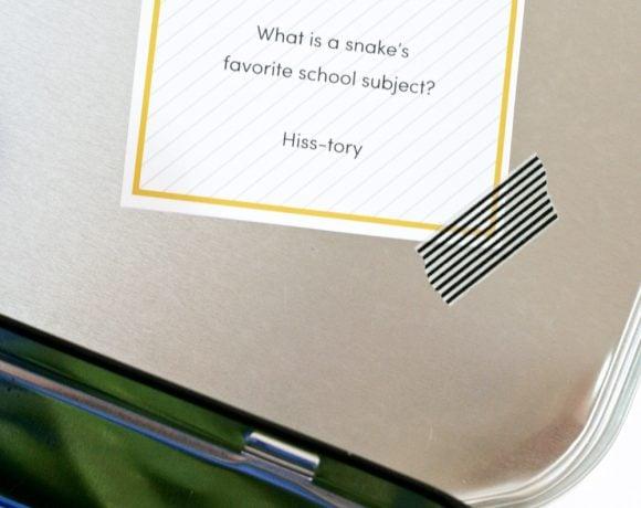 Free Printable Lunchbox Jokes #printables #lunch #school