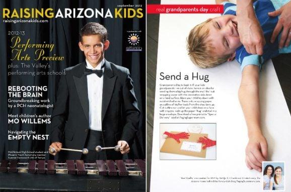 Send a Hug Feature in Raising Arizona Kids