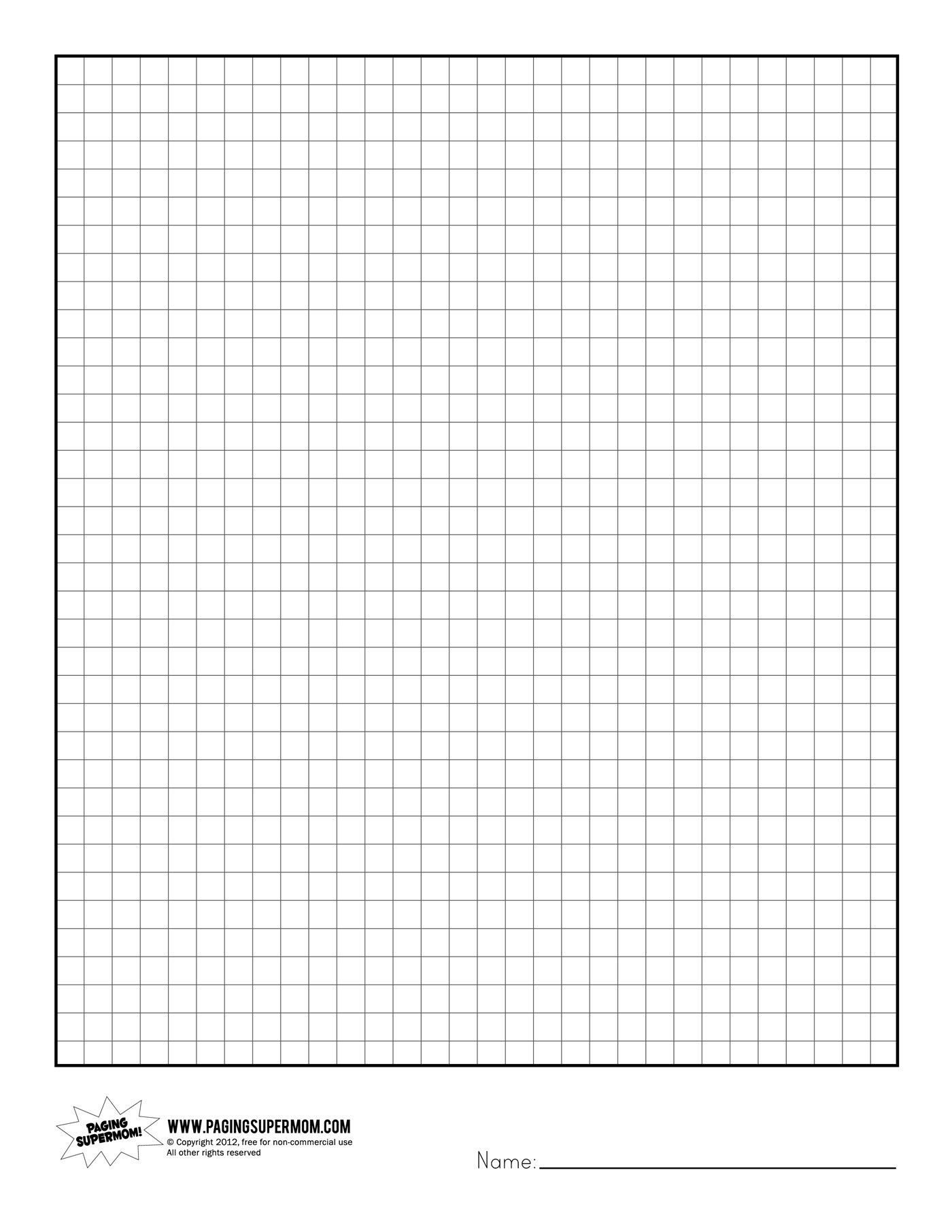 Printable Full Page Graph Paper images