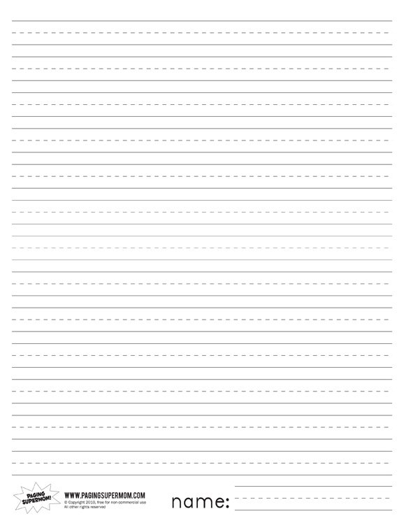 elementary lined writing paper