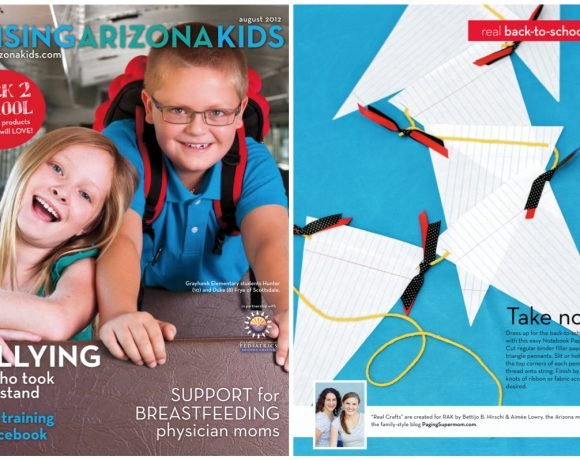 Raising Arizona Kids August Cover & Notebook Paper Craft