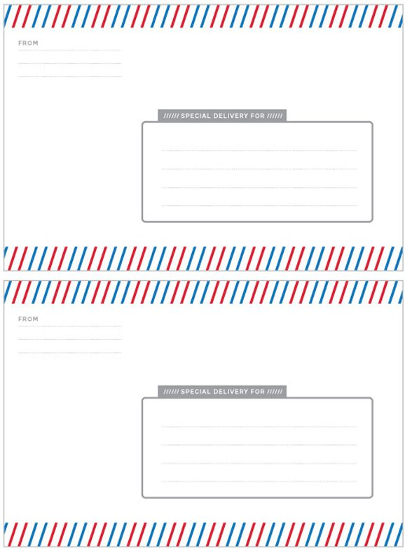 Special Delivery Label Template Paging Supermom – Package Label Template