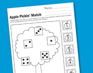 Worksheet Wednesday: Apple Pickin'