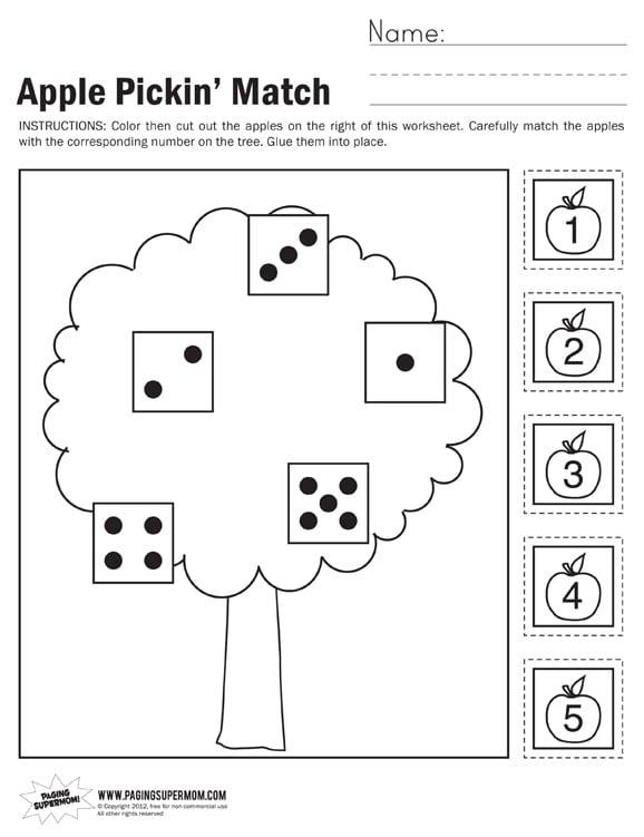apple math worksheets for kindergarten apple best free printable worksheets. Black Bedroom Furniture Sets. Home Design Ideas