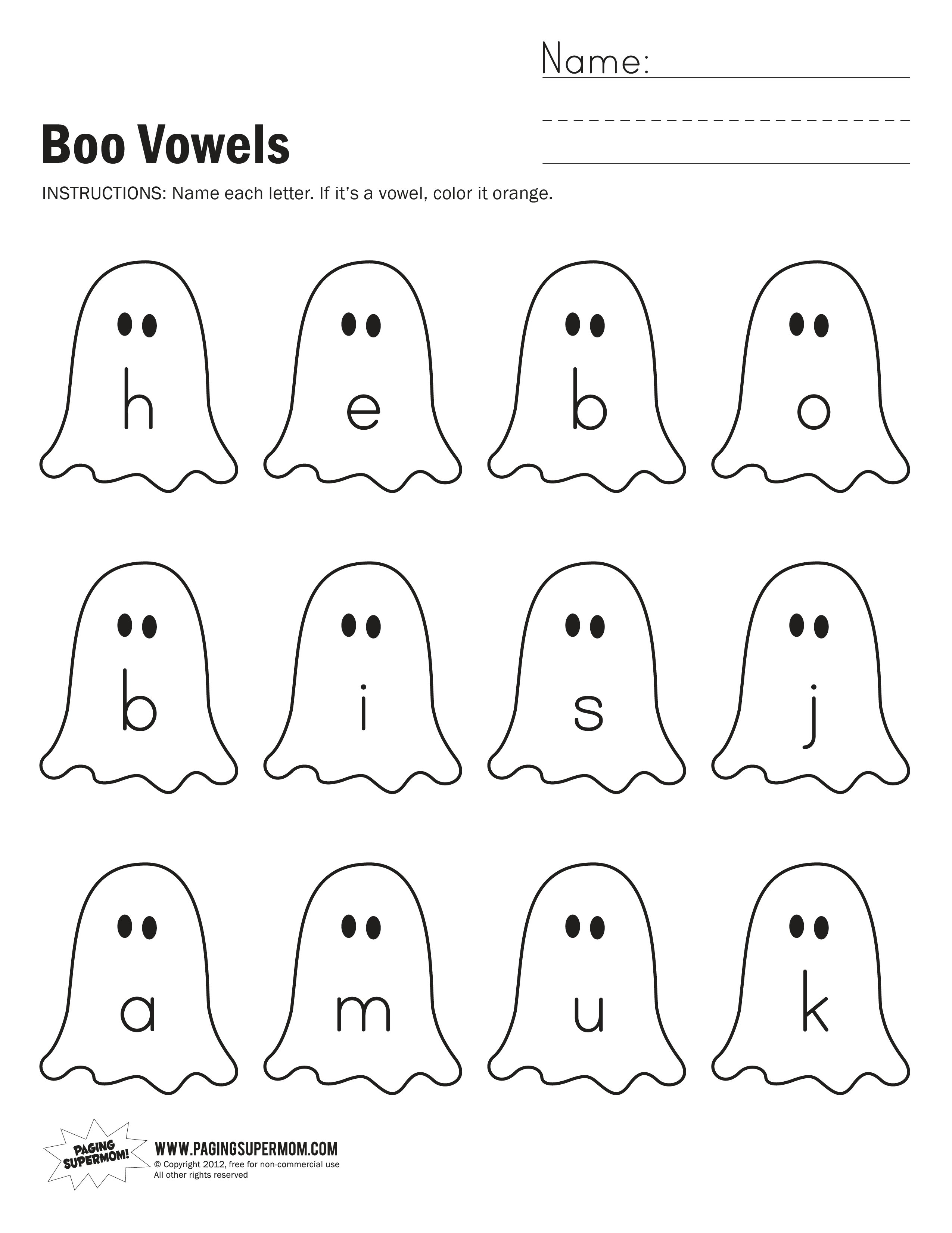 Worksheet Worksheets On Vowels worksheets on vowels laptuoso boo worksheet paging supermom