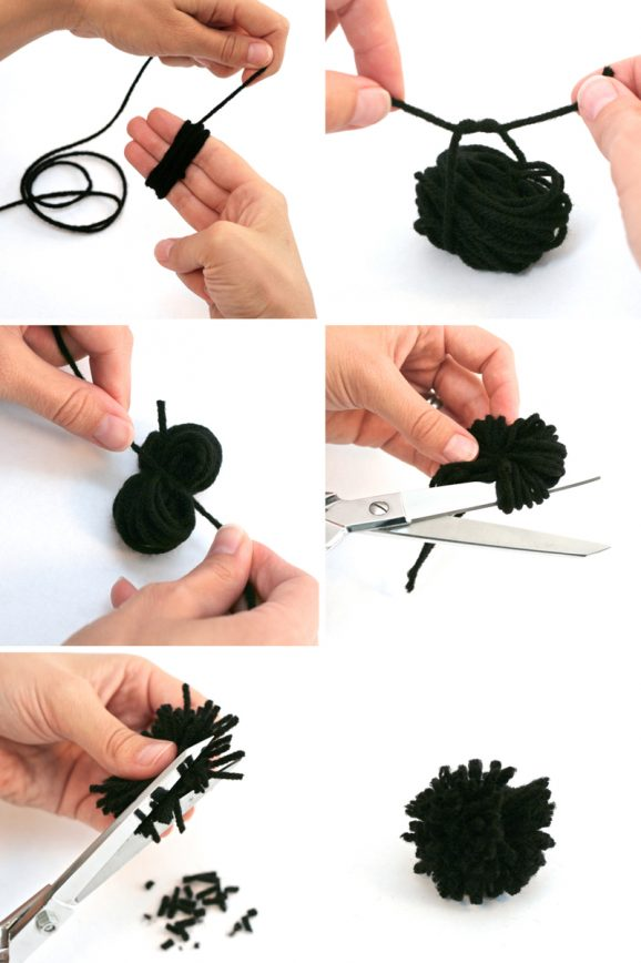 How to make cute pompom fuzzy spider #halloween #spider #kidscraft