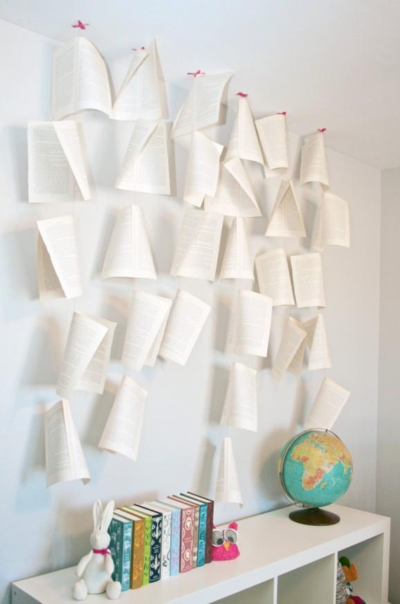 Book Page Mobile #literature #mobiles #nurserydecor pagingsupermom.com