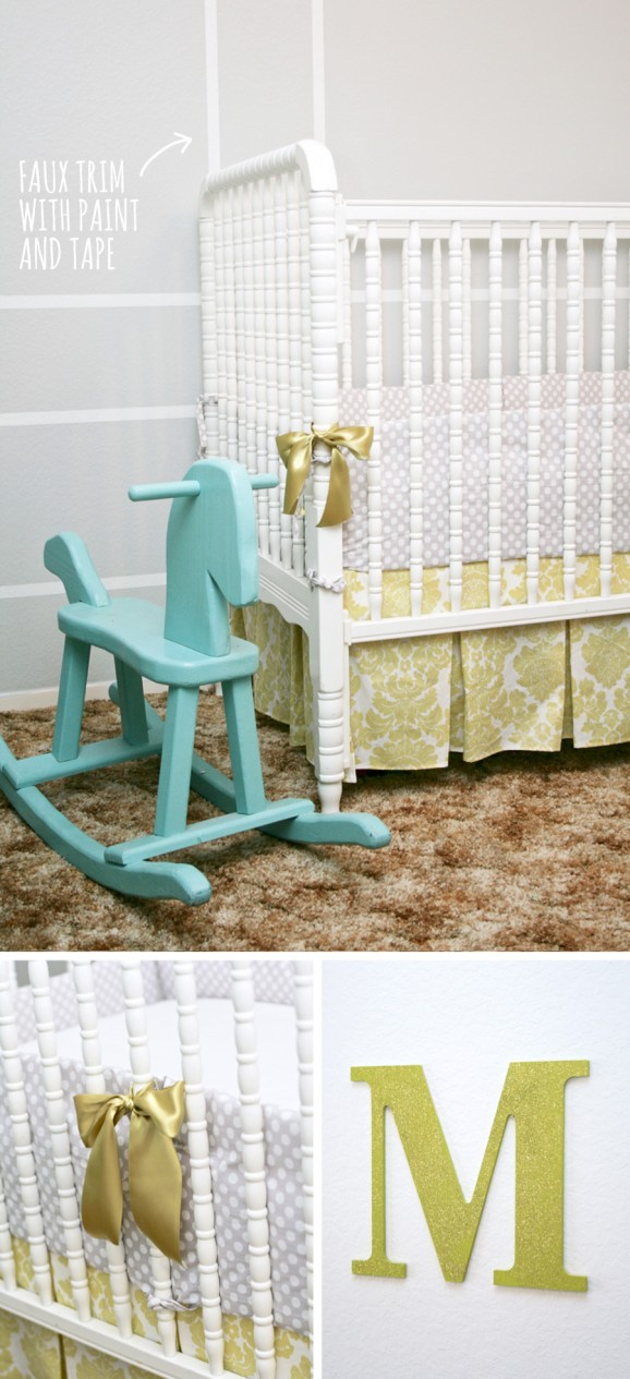 Sophisticated Baby Crib inspired by Jane Austen #damask #dot #cribbedding pagingsupermom.com