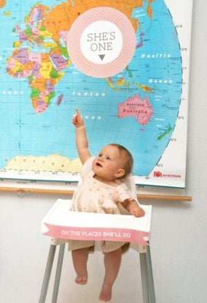 First Birthday Free Printable High Chair Signs #firstbirthday #printables