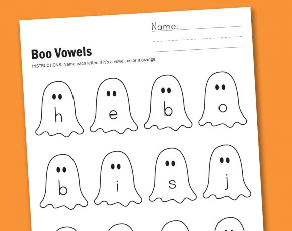 Worksheet Wednesday: Boo Vowels