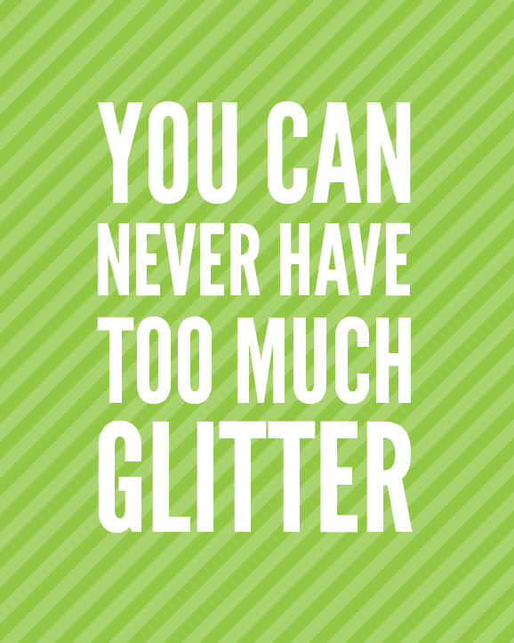 Glitter makes me happy PagingSupermom.com #glitter #craftwars #cupcaketoppers
