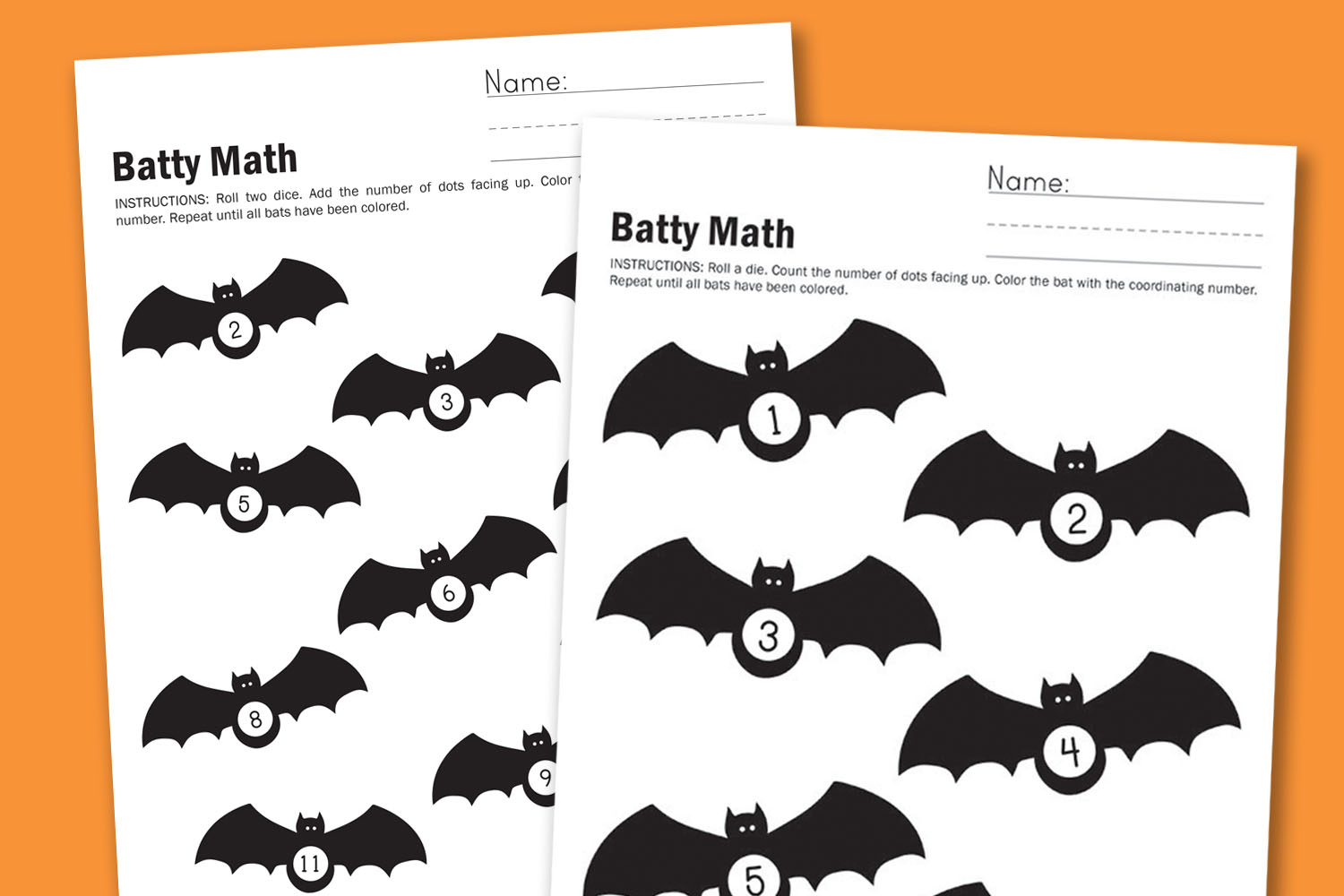 worksheet wednesday batty math paging supermom. Black Bedroom Furniture Sets. Home Design Ideas