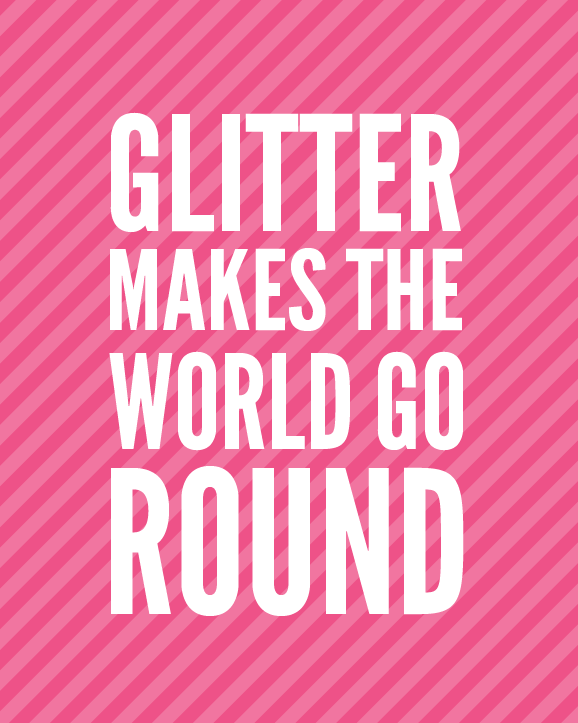Glitter makes me happy PagingSupermom.com #glitter #craftwars #crafting