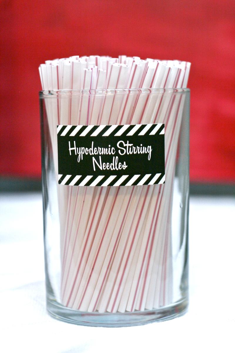 Hypodermic Stirring Needles PagingSupermom.com #halloween #vampire #twilight
