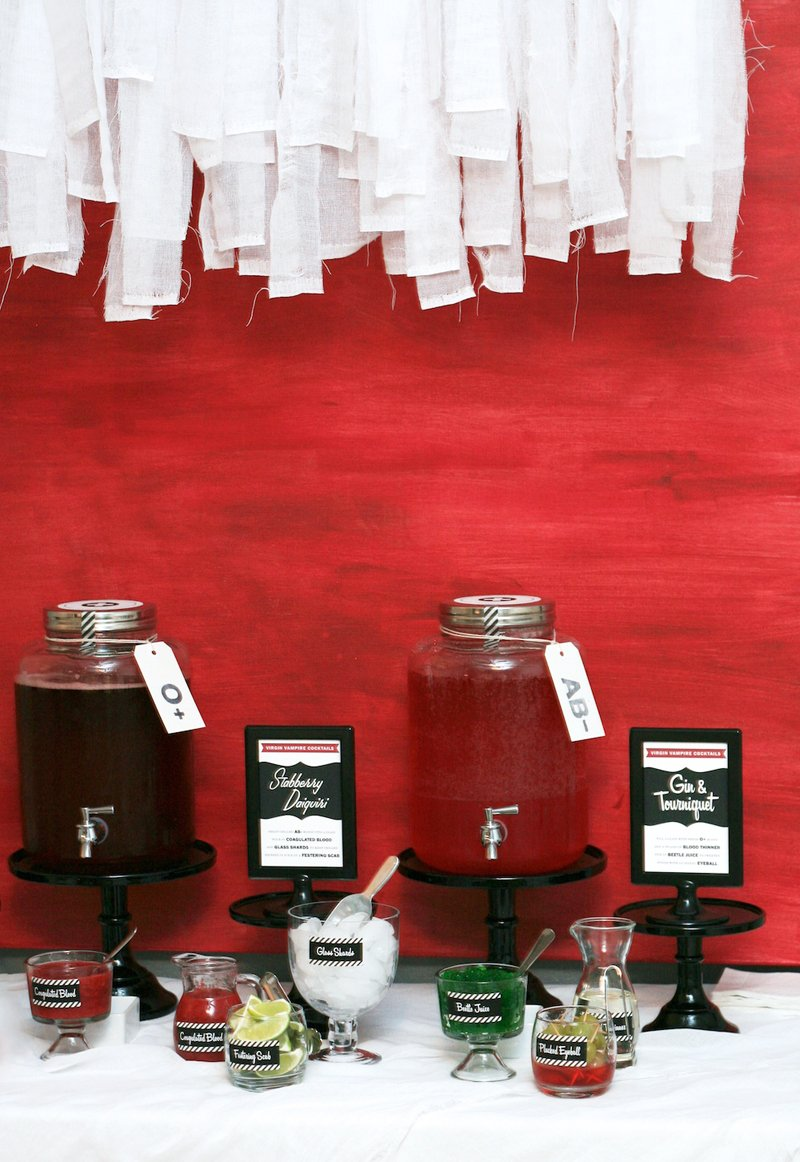Vampire Mixology - how to make a Blood Bar #twilight #breakingdawn #parties