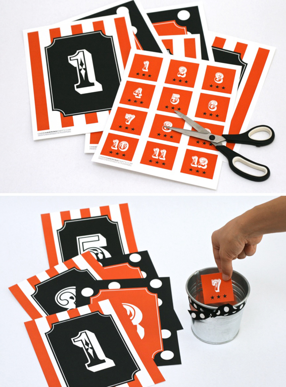 Free Cake Walk Kit at PagingSupermom.com #halloweenparty #cakewalk #printables #halloween
